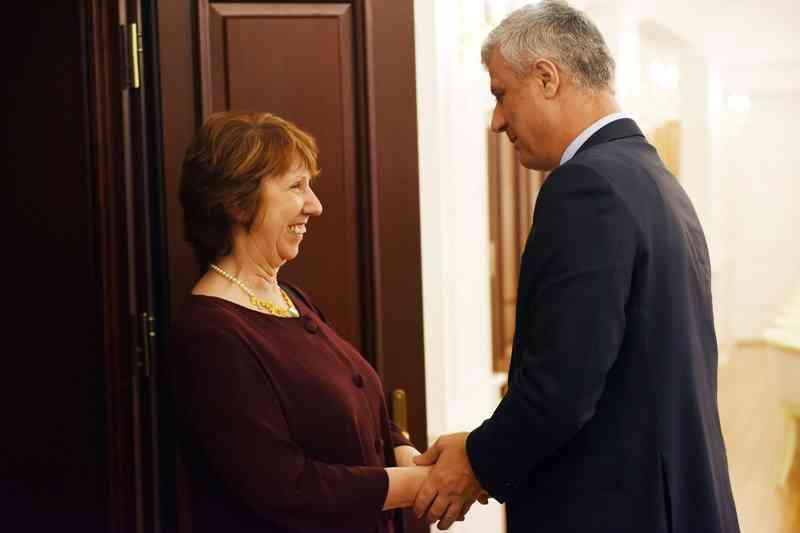 Presidenti Thaçi dekoron baroneshën Ashton