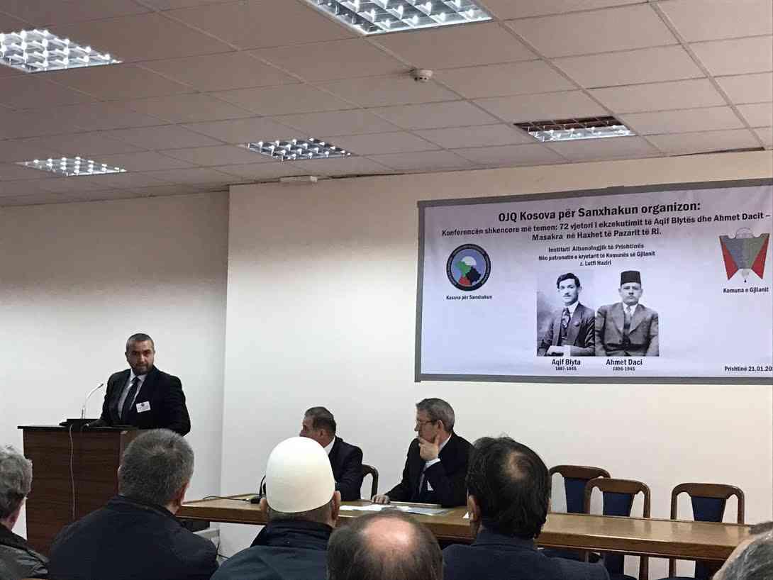"""Konferencë Shkencore """"72 vjetori i ekzekutimit të Aqif Blytës dhe Ahmet Dacit…"""""""