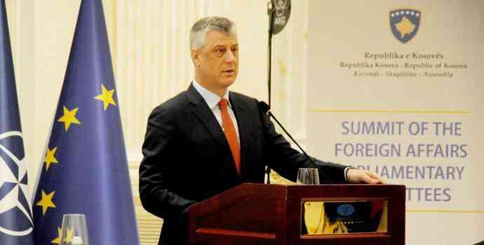 Thaçi: Anëtarësimi në BE, parakusht për paqe dhe siguri në rajon