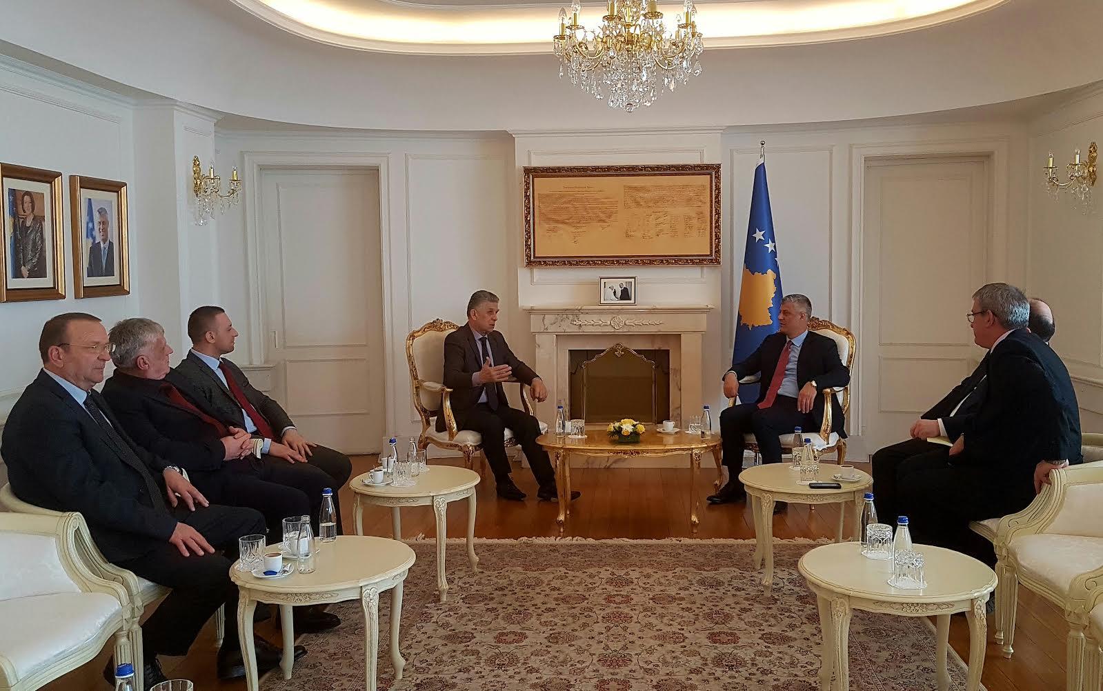 Sulejman Uglanin falënderoi Presidentin Thaqi për në pritje