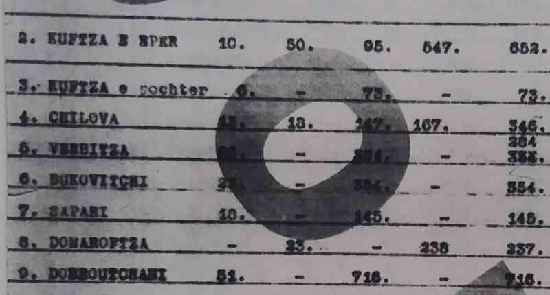 Të dhëna të panjohura mbi popullsinë e Gjilanit dhe fshatrave përreth në fillim të shekullit XX