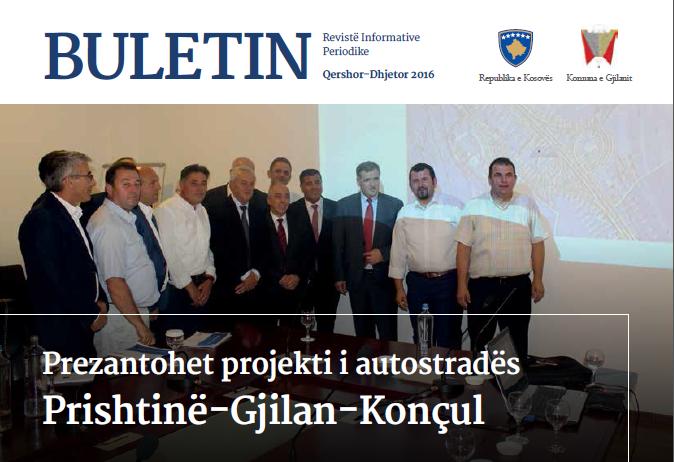 Gjilani publikon buletinin informativ për periudhën korrik – dhjetor 2016