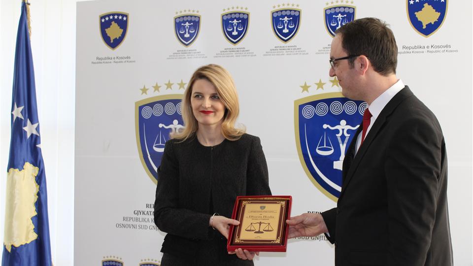 Ministrja e Drejtësisë vizitë në Gjykatën Themelore në Gjilan