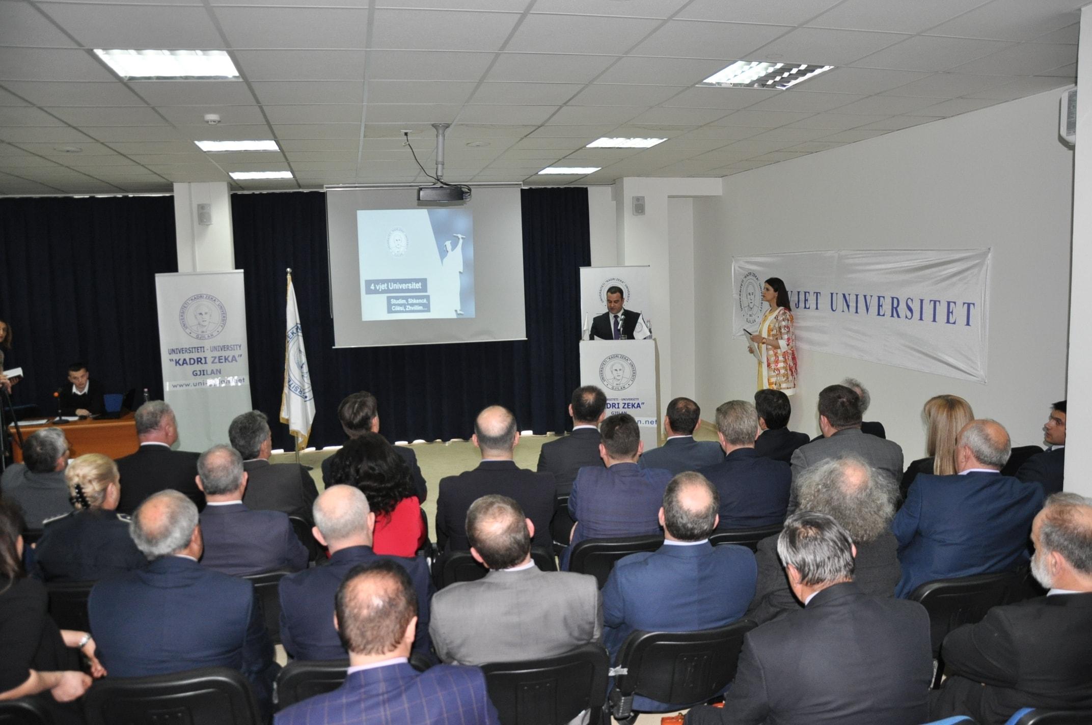 """Universiteti """"Kadri Zeka"""" në Gjilan ka shënuar 4-vjetorin e themelimit"""