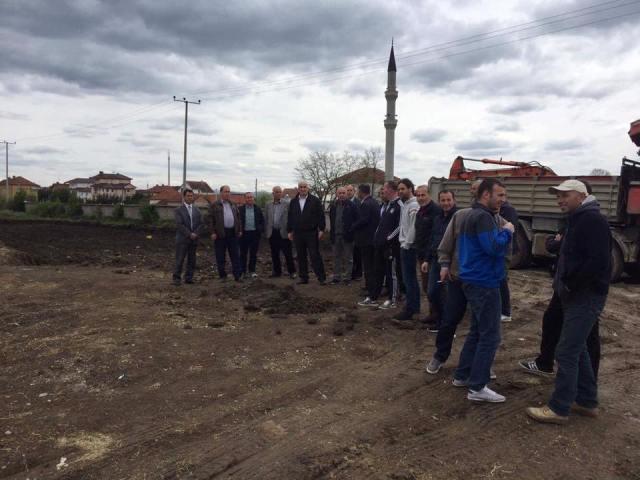 Haliti inspektoi punimet në ndërtimin e objektit të ri shkollor në Pozheran