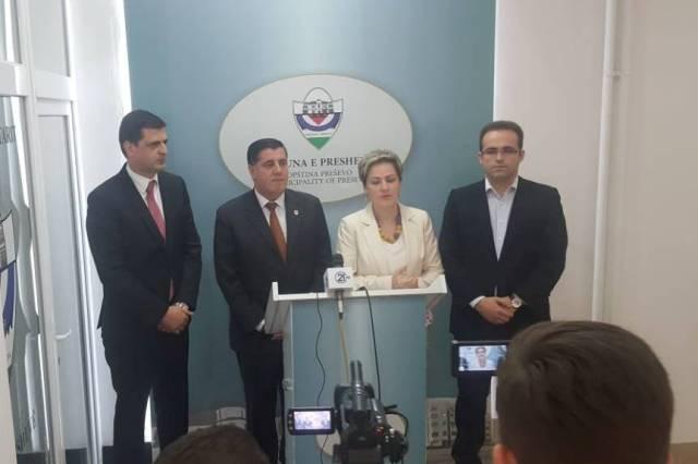 Kreu i Gjilanit, Lutfi Haziri po qëndron në një vizitë zyrtare në Luginën e Preshevës