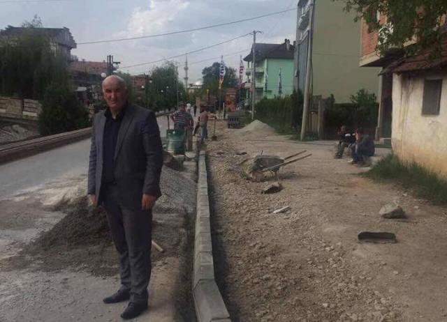 Haliti inspektoi projektet infrastrukturore në qytetin e Vitisë