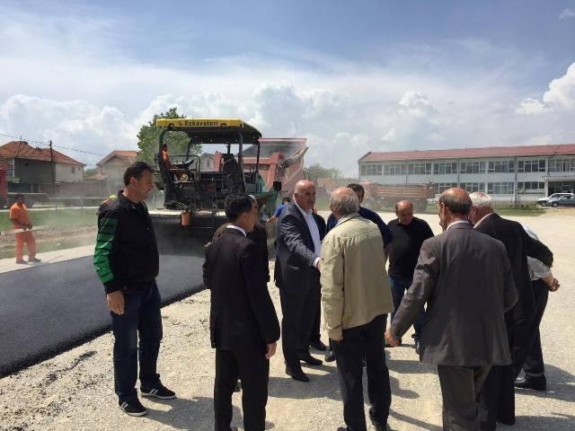 Filluan punimet në ndërtimin e fushës sportive në Kabash të Vitisë