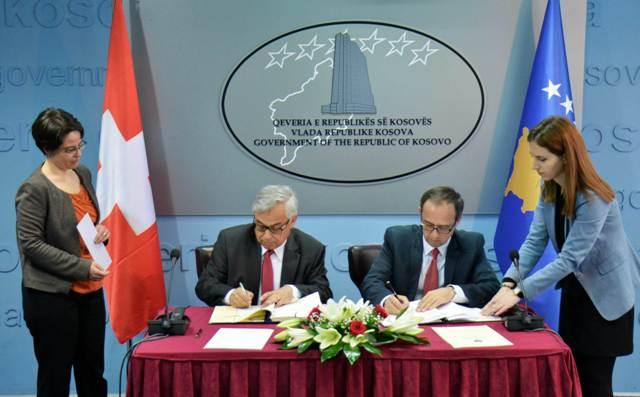 Kosova dhe Zvicra nënshkruajnë Marrëveshjen për eliminimin e tatimit të dyfishtë