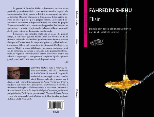 """Poetit Shehu i botohet në Itali libri me poezi """"Eliksir"""""""