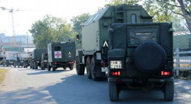 Forca të mëdha të KFOR-it futen në Maqedoni