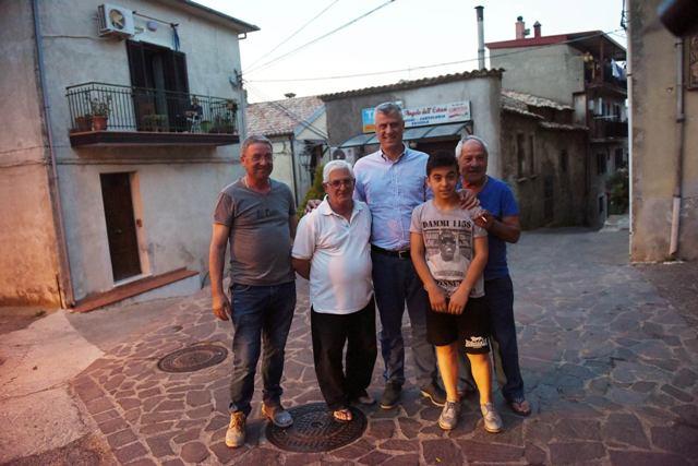 Presidenti Thaçi takon arbëreshët e Shën Benediktit
