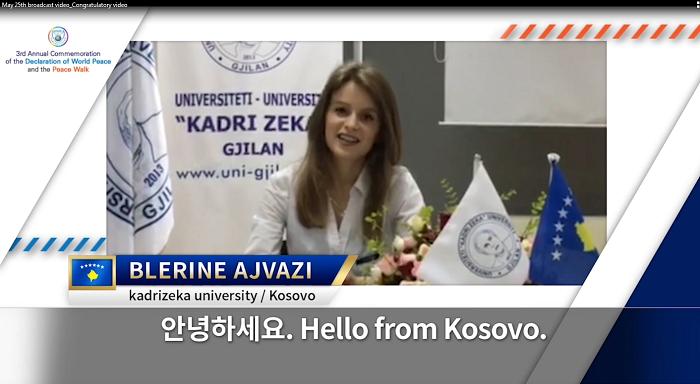 Studentja e Universitetit  ''Kadri Zeka'' përfaqësuese e Kosovës në Samitin e radhës në Korenë Jugore