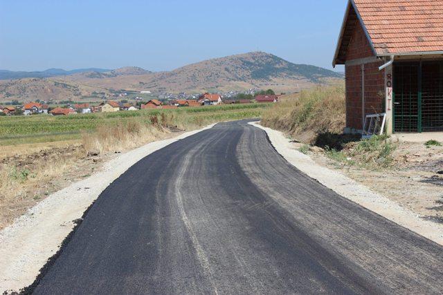 Asfaltohen dy rrugë të rëndësishme në fshatin Gjylekar