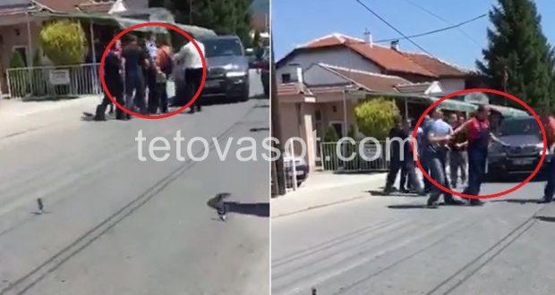 Në sy të policëve rrihet shqiptari dhe kërcënohet me vdekje nga pronarët maqedonas