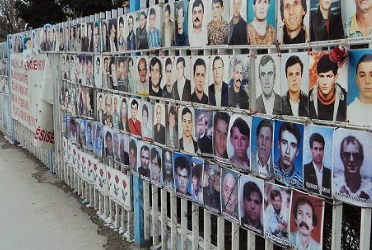 Duke përkujtuar të zhdukurit nga konfliktet Jugosllave të viteve 1990