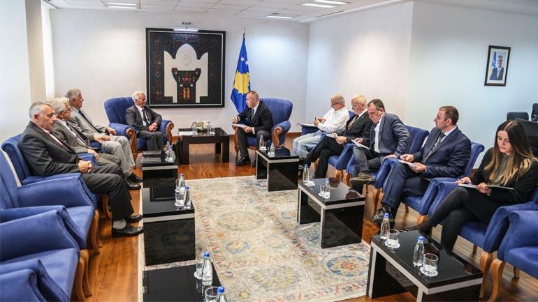 Haradinaj priti përfaqësuesit e Federatës Sindikale të Pensionistëve dhe të Moshuarve