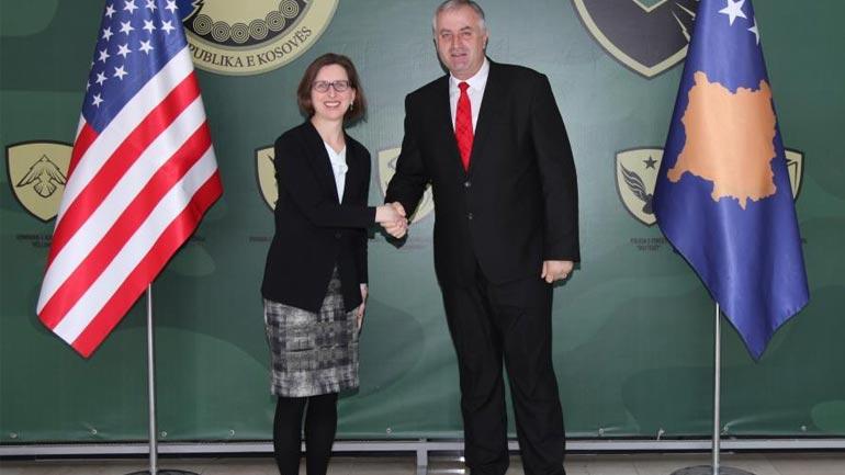Ministri i FSK-së priti në takim zëvendës-ndihmës sekretaren e Departamentit të Mbrojtjes të SHBA