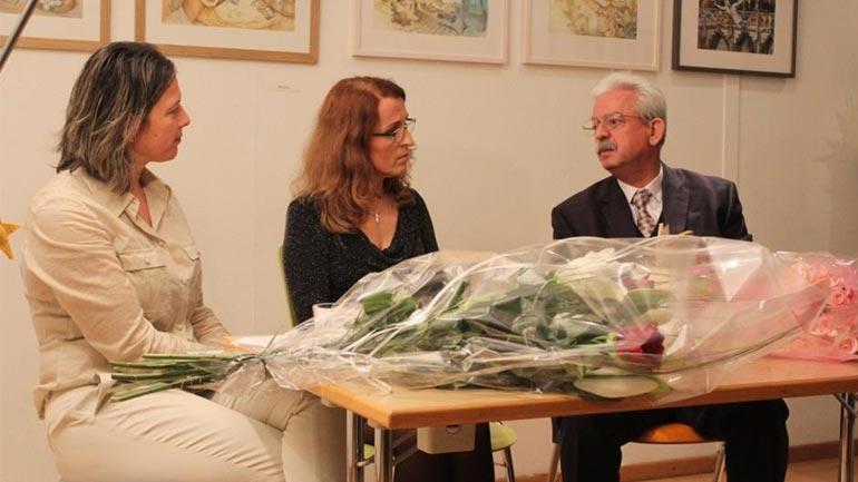 Shkëlqimi i Basrie Sakiri – Muratit, Brahim Avdylit dhe moderatores Brikela Andrea në Mbrëmje Letrare
