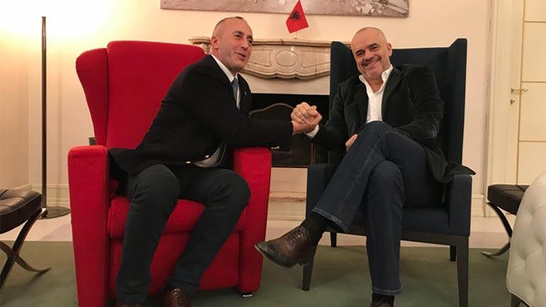 Kryeministri Ramush Haradinaj u prit nga kryeministri i Republikës së Shqipërisë, Edi Rama