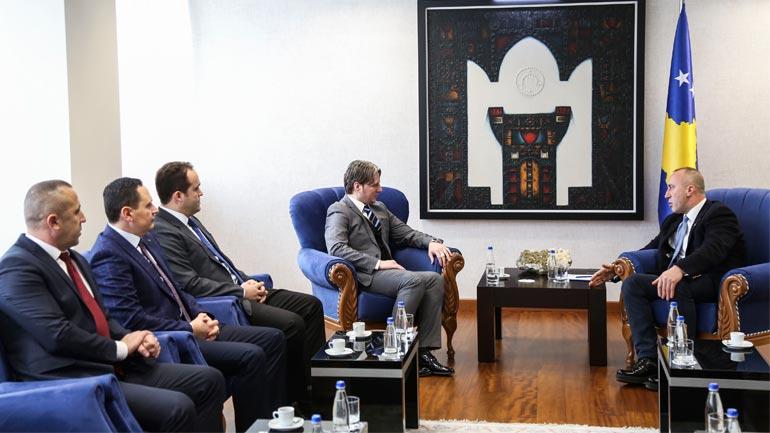 Kryeministri Haradinaj takon udhëheqësit e koalicionit fitues të zgjedhjeve në Preshevë