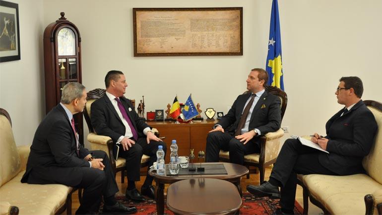 Ministri Sefaj priti në takim Shefin e Zyrës Belge në Kosovë Jean-Louis Servais
