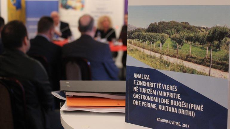 Lansohet dhe prezantohet Analiza e Zingjirit të Vlerave me planin implementues për komunën e Vitisë