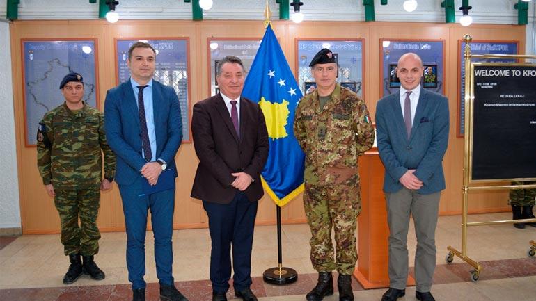 Takim bashkëpunues ndërmjet ministrit Pal Lekaj dhe komandantit të KFOR-it në Kosovë, Salvatore Cuoci
