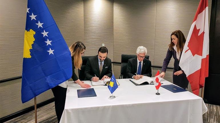 Nënshkruhet marrëveshja për promovimin e investimeve kanadeze në Kosovë