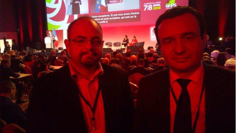 Kurti e Abazi pjesëmarrës  në Kongresin e Partisë Socialiste të Francës