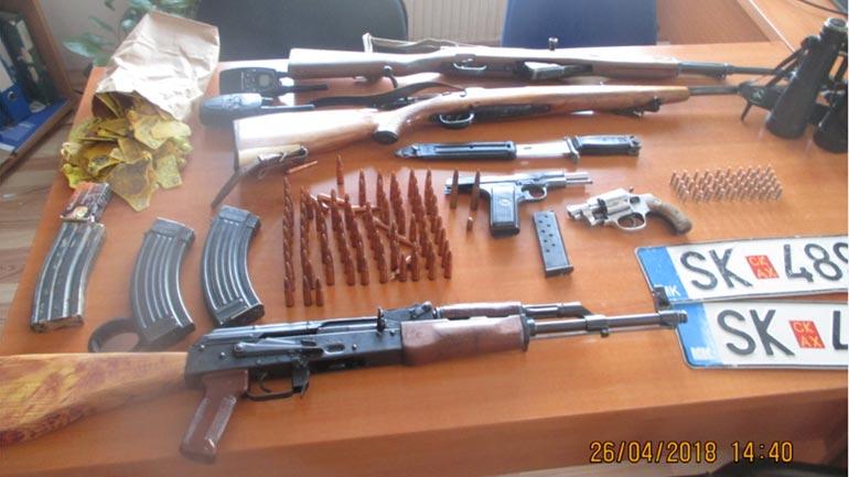 Në Letnicë të Vitisë: Konfiskohet një sasi e armëve dhe municionit