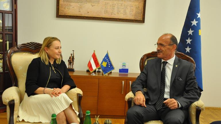 Ministri Gashi priti në takim zëvendëspërfaqësuesen e UNDP-së në Kosovë
