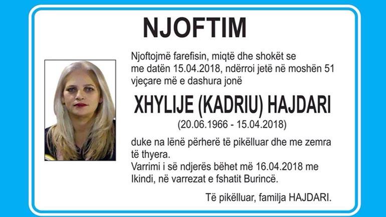 AAK e tronditur nga Ikja e hershme në amshim e anëtares së saj Xhylie Kadriu-Hajdari