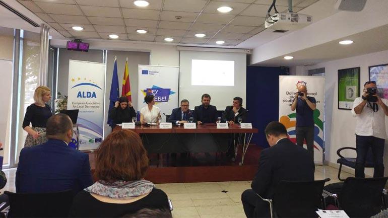 Lutfi Haziri flet në emër të ALDA në Forumin e të rinjve 2018 në Shkup