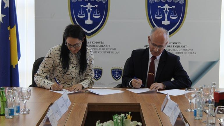 Memorandum Bashkëpunimi mes Gjykatës Themelore të Gjilanit dhe Gjykatës Rrethit Gjyqësor të Lezhës