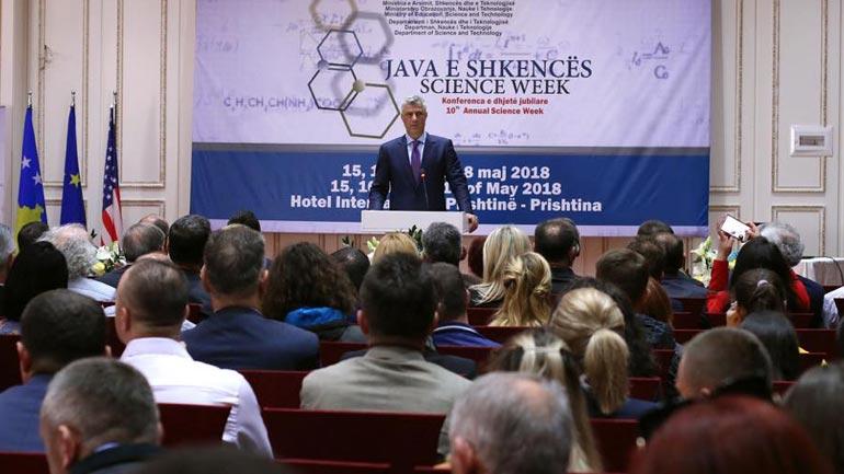 Thaçi: Shkenca duhet të jetë në funksion të zhvillimit ekonomik dhe shoqëror