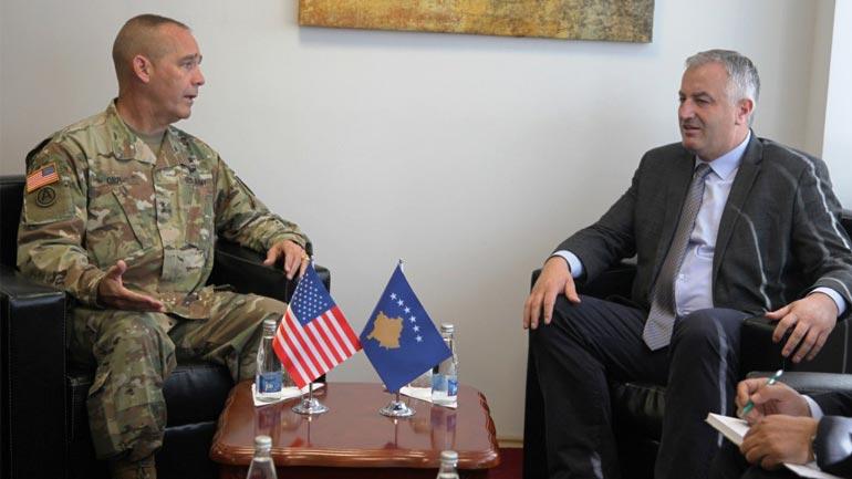 Ministri dhe komandanti i FSK-së pritën komandantin e Gardës Kombëtare të Ajovës