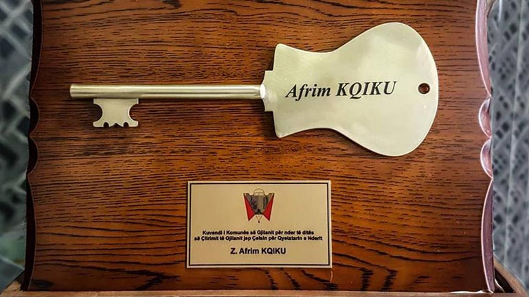 Afrim Kqiku, qytetar nderi i Gjilanit