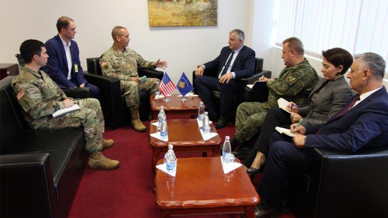 Ministri dhe Komandanti i FSK-së pritën në vizita të ndara komandantin e Gardës Kombëtare të Ajovës së ShBA-ve