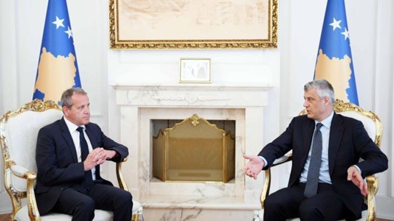 Presidenti Thaçi priti në takim raportuesin e BE-së për Kosovën