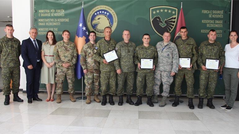 Ambasada Amerikane ndanë mirënjohje për ekipin e FSK-së