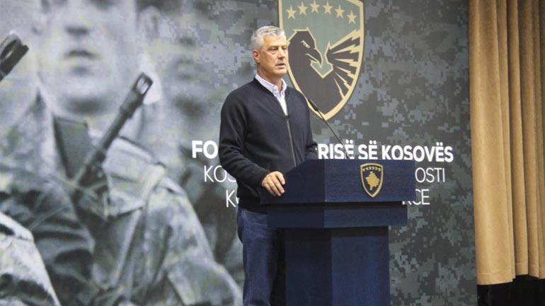 Presidenti Hashim Thaçi përgëzoi FSK-në për rezultatet e arritura
