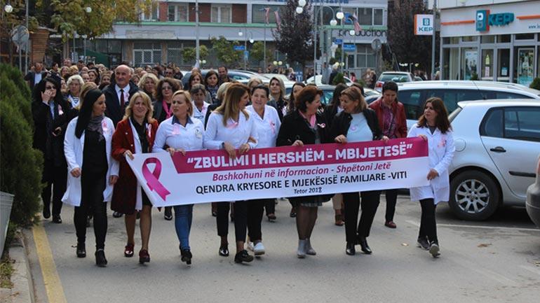 Në Viti u mbajt marshi i vetëdijesimit kundër kancerit të gjirit