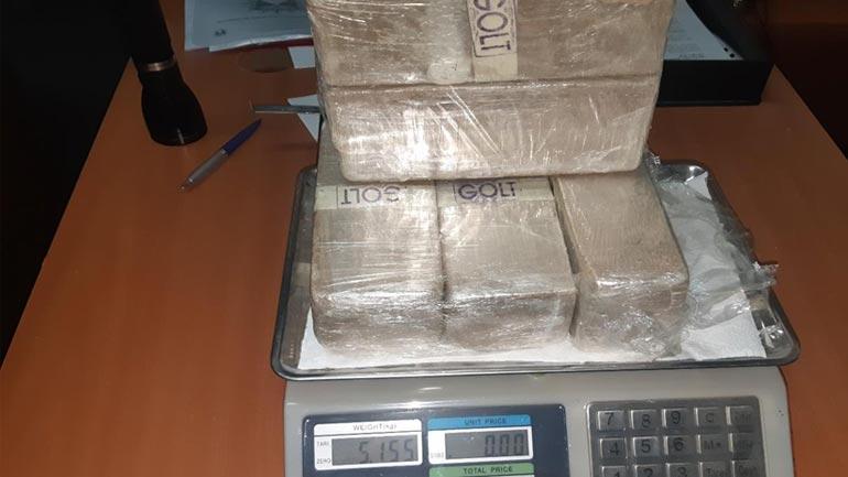 Gjilan: Arrestohet një person dhe konfiskohen mbi 5 kg substancë narkotik