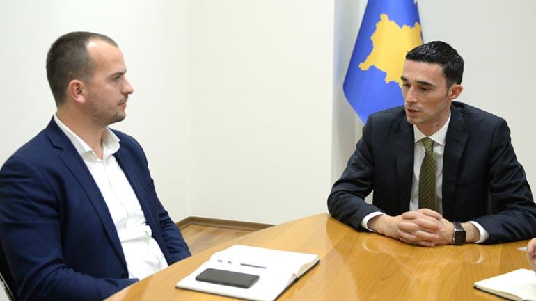 Kryetari i Kamenicës takon Ministrin e Tregtisë dhe Industrisë