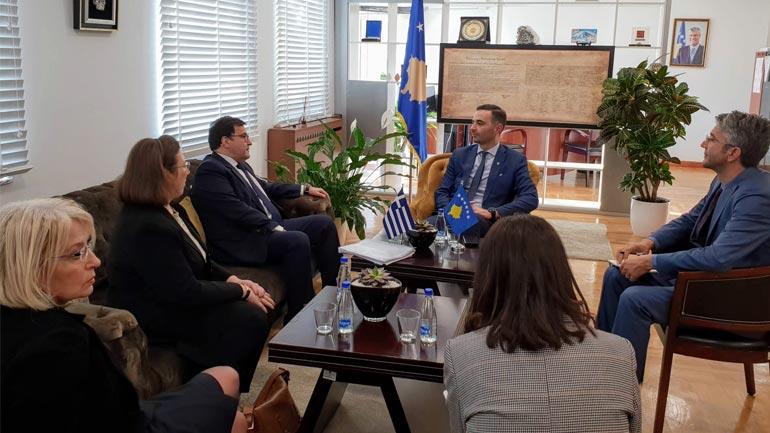 Lluka: Kosova dhe Greqia do të rrisin bashkëpunimin ekonomik