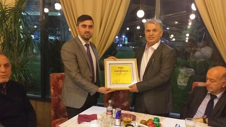 """""""Vatra"""" nderon me mirënjohje ndërmarrësin Sevdail Haziri"""