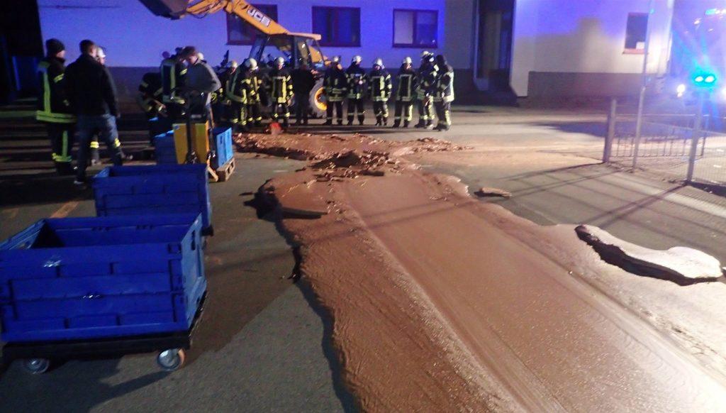 Rrugët prej çokollate, incident në fabrikën gjermane