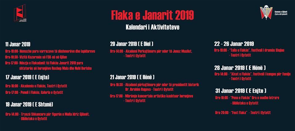 """""""Flaka e Janarit 2019"""" i kushtohet 20-vjetorit të çlirimit të Gjilanit"""
