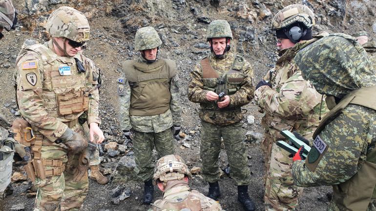 Operacion i përbashkët i ekspertëve amerikanë dhe të FSK-së për demolimin e mjeteve të pashpërthyera